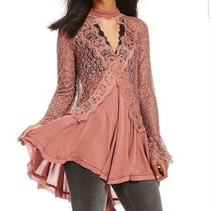 Free People Tell Tale Lace Top